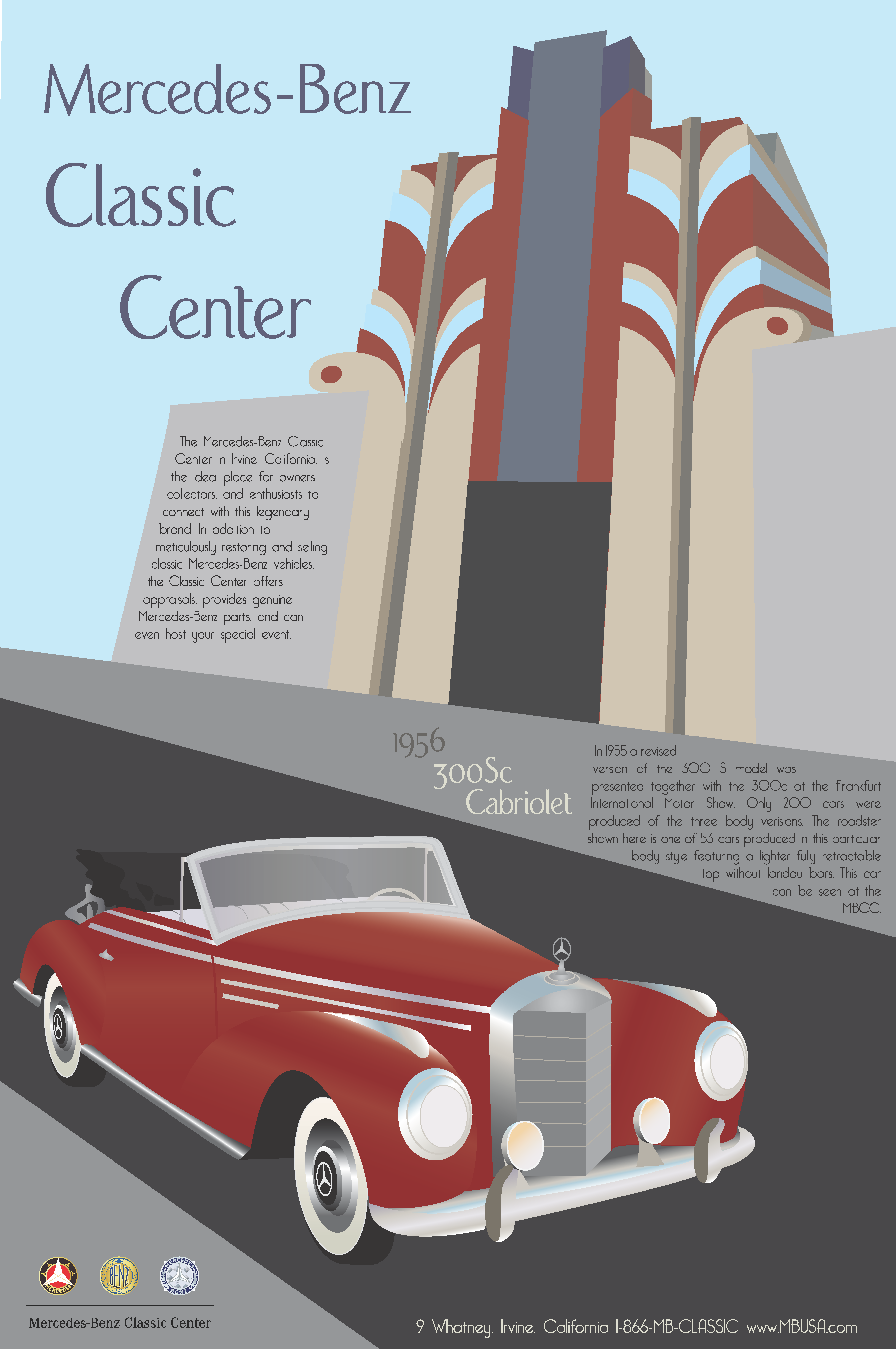 Mercedes benz classic center poster grace bisel 39 s portfolio for Mercedes benz poster